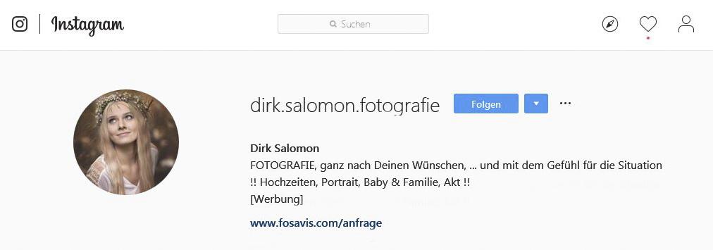 Dirk Salomon auf Instagram