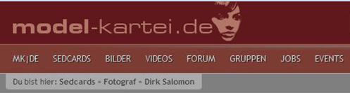 Dirk Salomon auf MODELKARTEI