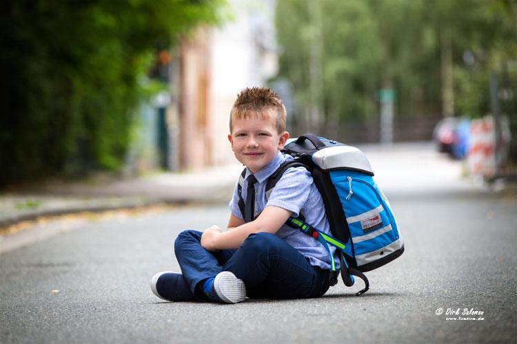 Fotos vom Schulanfang mit Dirk Salomon - FOSAVIS